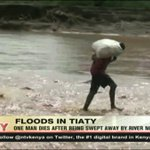One man dies after being swept away by river Nginyang