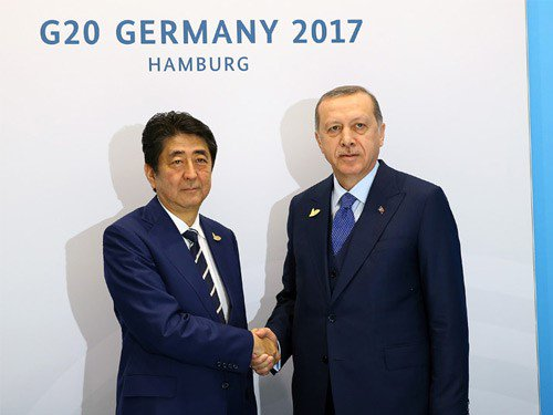 President Erdoğan Receives PM Abe of Japan https://t.co/pu2ltGSQoE https://t.co/WehsvK5J7b