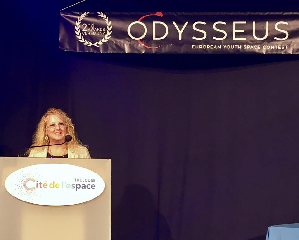 """""""Space unites us. Odysseus inspires European youth to get involved in space."""" Elena Tavlaki  of #Odysseuscontest, in  the final award event. https://t.co/Ui3mG2PA6H"""