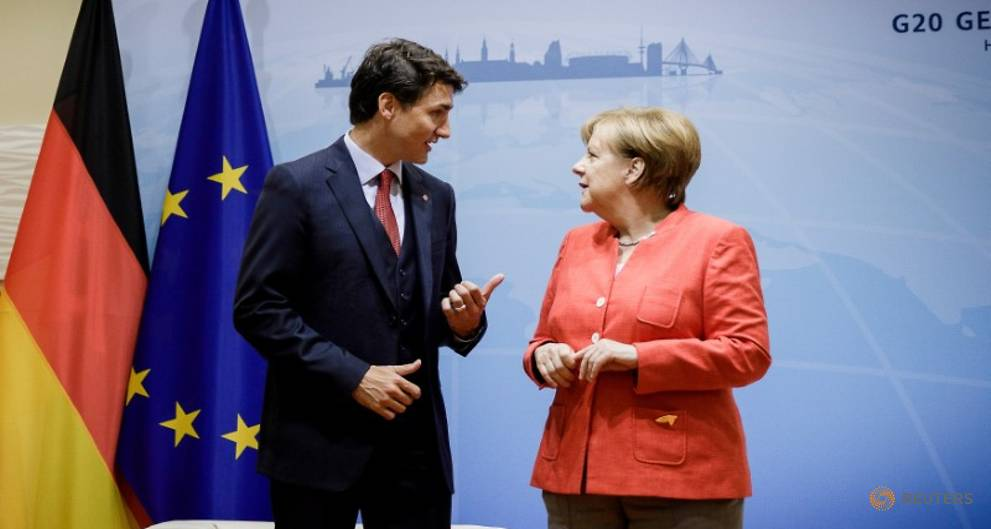 Trudeau - G20 will tell Trump he should take lead on climate change