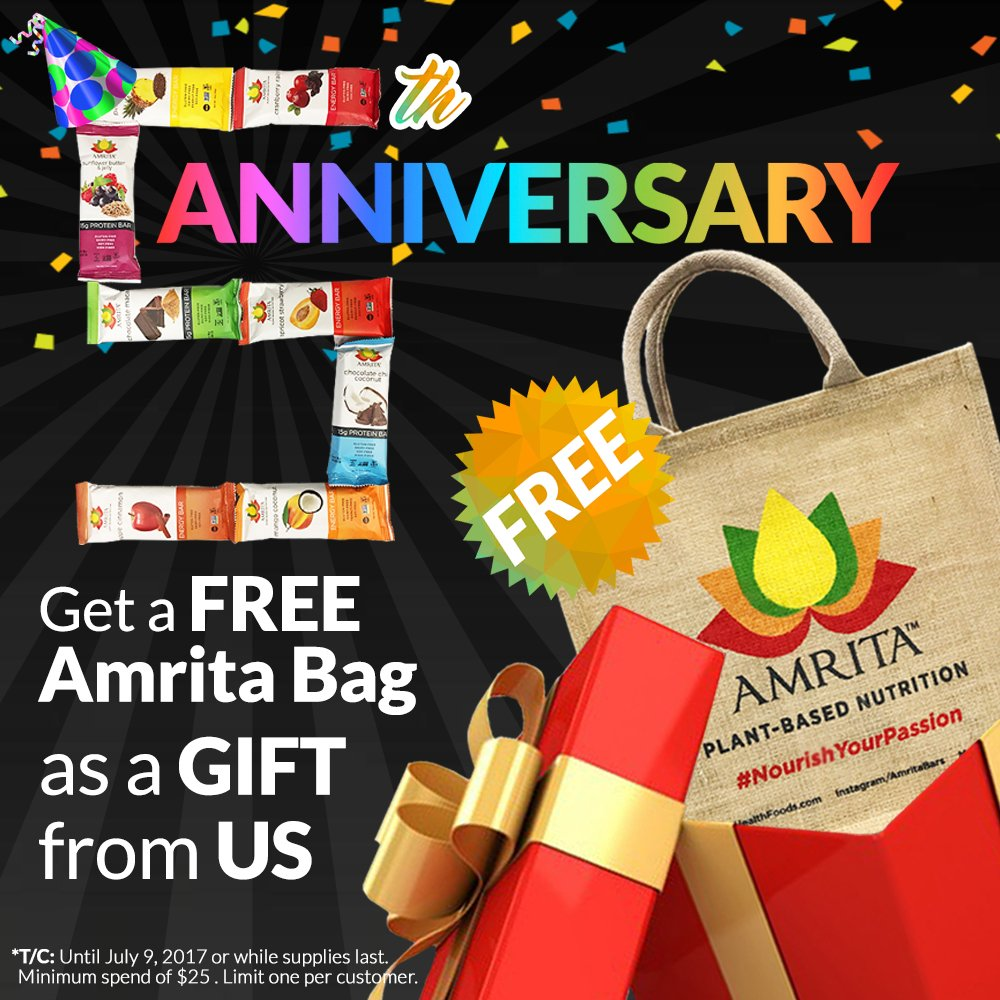 �� Happy 5th Birthday to Us! ��  Get a FREE AMRITA BAG for every order here: https://t.co/s8kBm7f02u https://t.co/qXYYdBISXQ