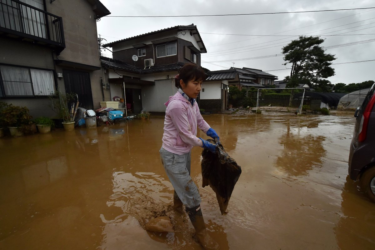 The floods that devastated the city of Asakura, Japan and saw 500,000 people evacuated