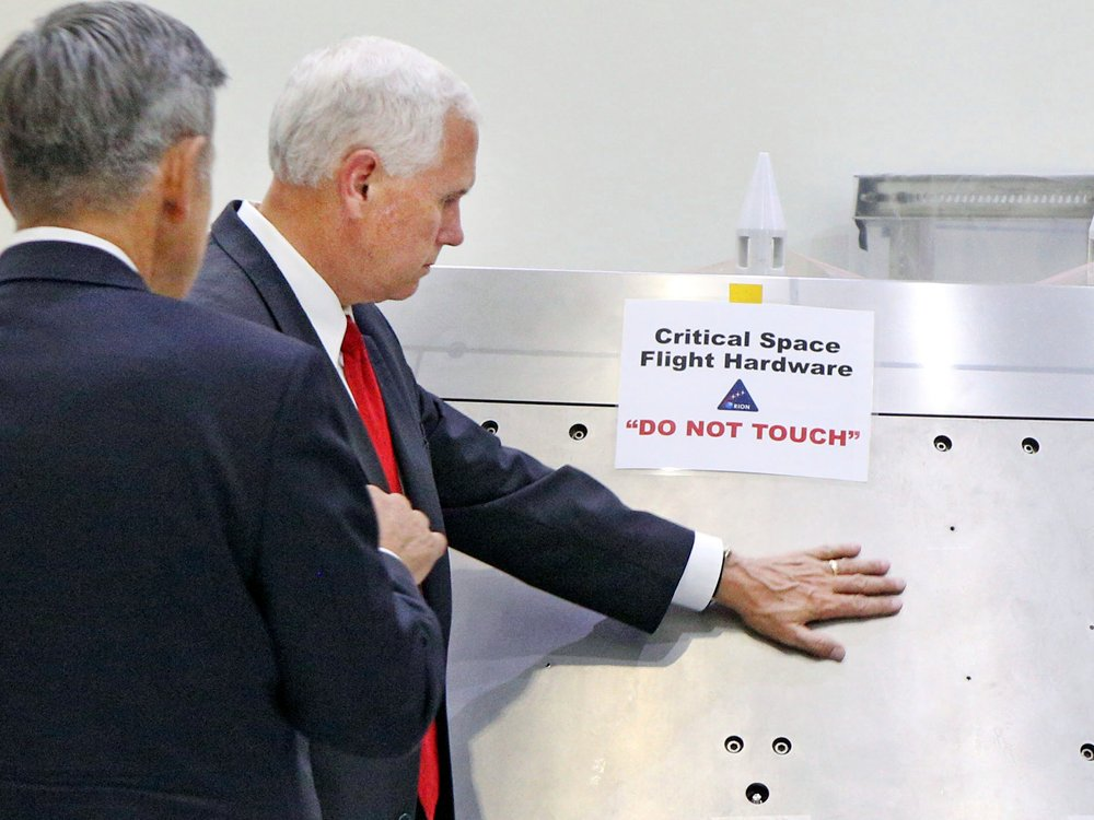 Mike Pence came across a 'DO NOT TOUCH' sign at NASA. Guess what happened next?