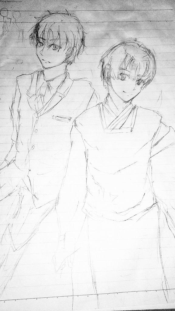 黒魔女さんが通る落書き今回のは私の妹が描いた落書きです\( ~∇~)/麻倉&東海寺をリクエストしたら描いてくれた