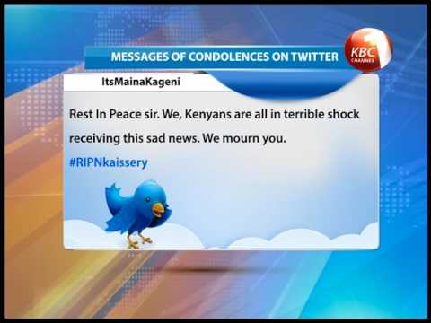 Kenyans take to social media to express condolences #RipNkaissery