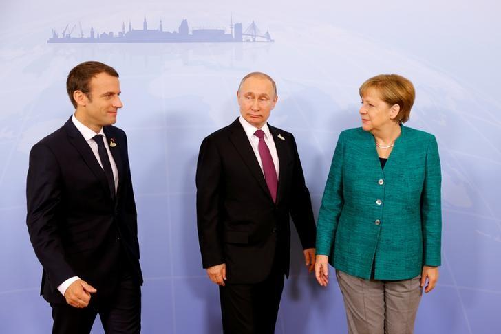 Merkel, Macron, Putin agree on importance of ceasefire in eastern Ukraine