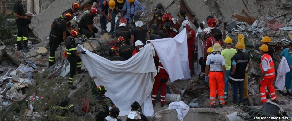 8 bodies pulled from the rubble in Italy building collapse