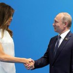 First lady makes cameo appearance at Trump-Putin meeting