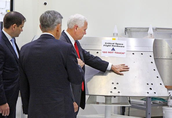 "VP Mike Pence cracks Twitter jokes after touching NASA hardware labeled ""do not touch"""