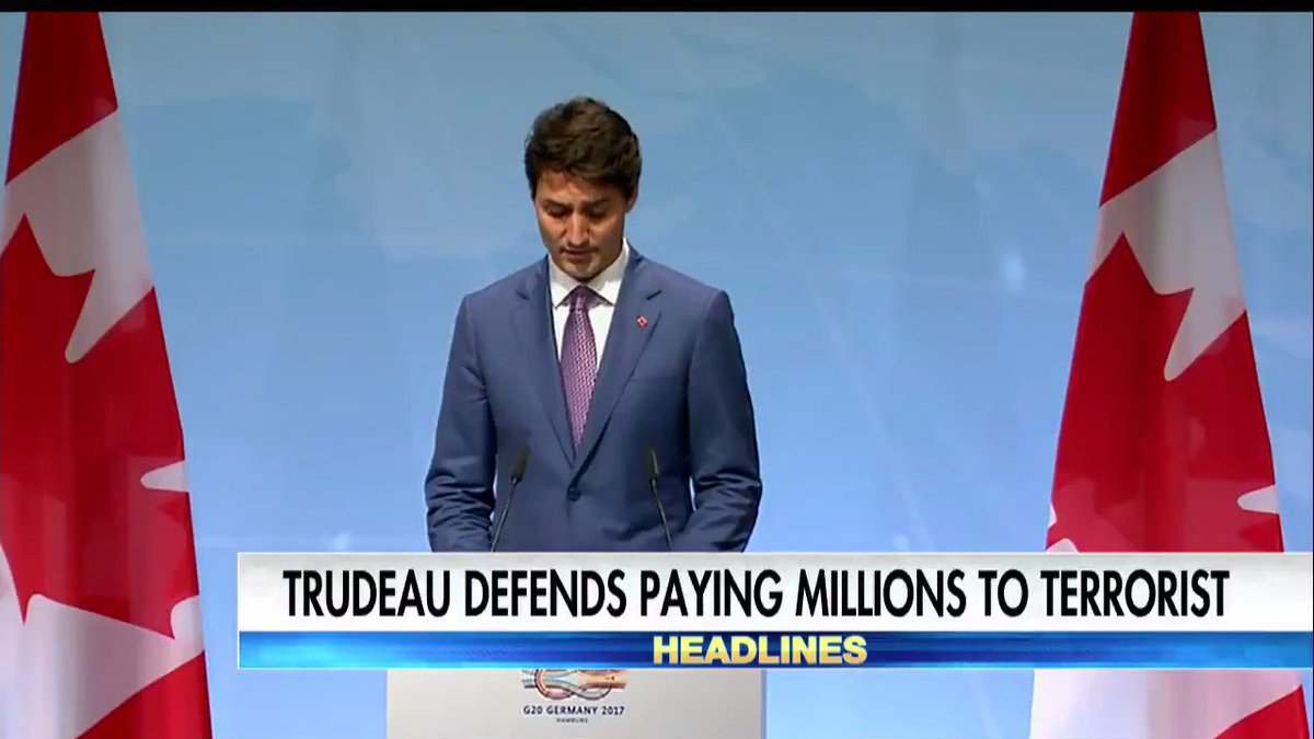 Canada's PM Trudeau defends paying millions to terrorist.