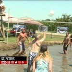 Mud volleyball tournament in St.Peters