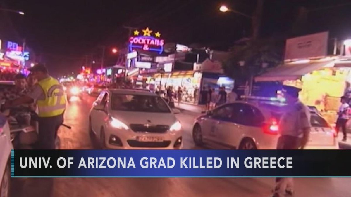 University of Arizona grad killed in Greece