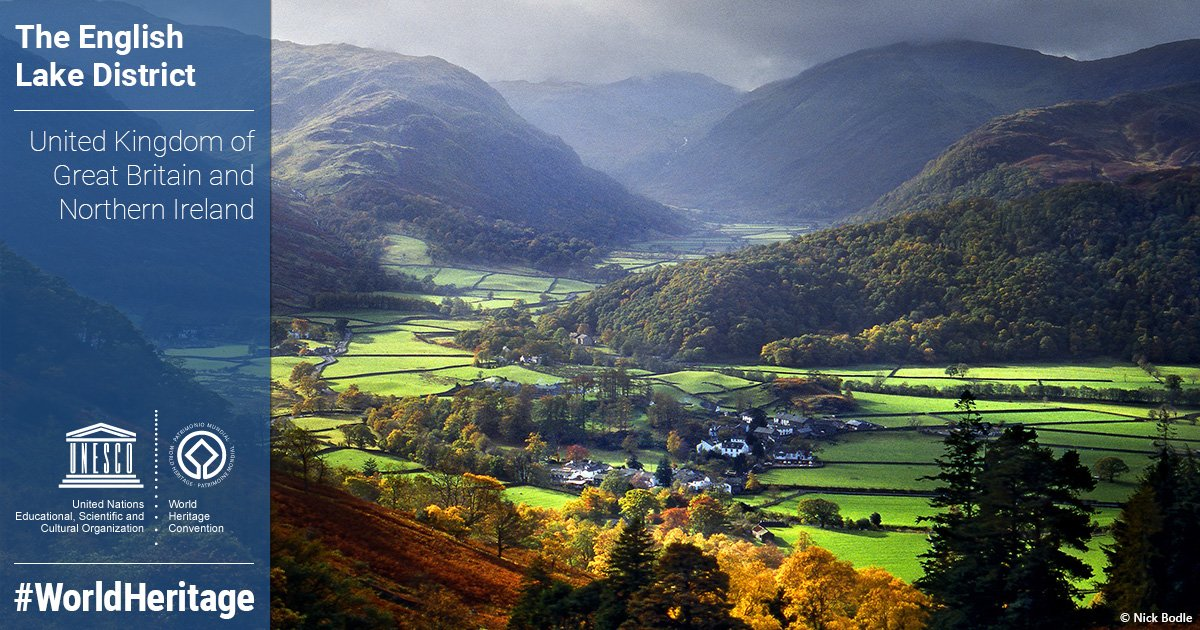 The Lake District is named a Unesco World Heritage site