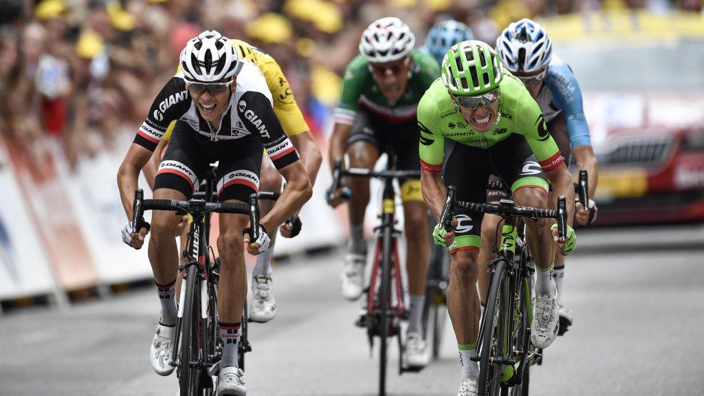 Tour de France: Colombian Uran wins crash-filled 9th stage