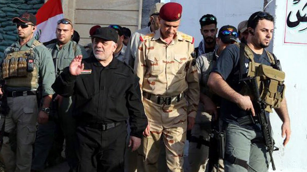Iraqi Prime Minister Haider al-Abadi  hails 'great victory' against ISIL in Mosul