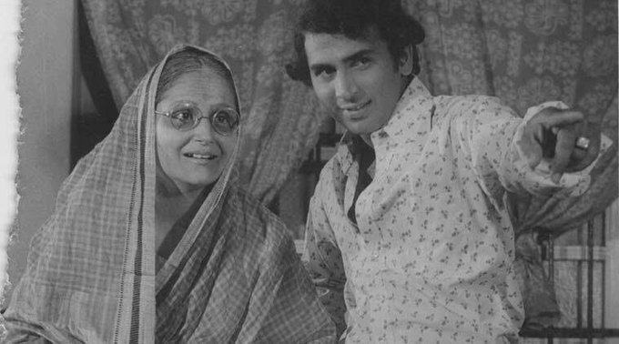 Happy birthday sir....               A rare pic of Sunil Gavaskar with his mother