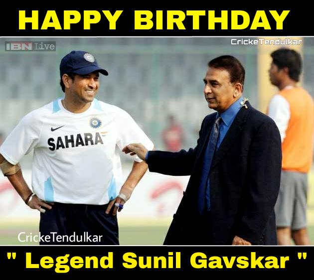 Happy Birthday Sunil Gavaskar sir An absolute legend