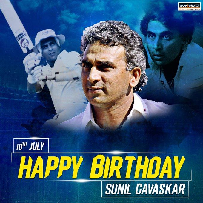 Here\s wishing one of India\s greatest cricketers and Sportstar columnist, Sunil Gavaskar, a very happy birthday.