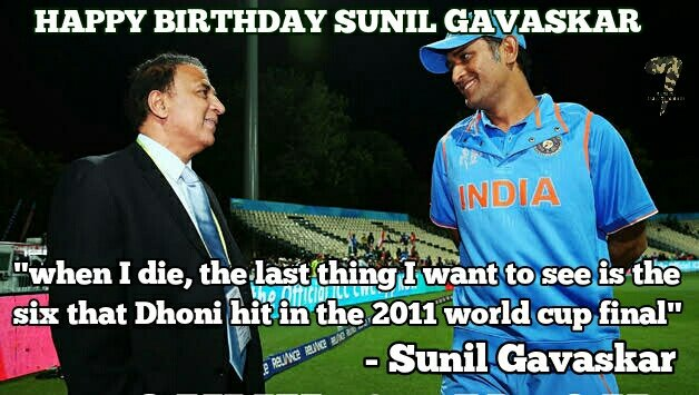 Happy birthday Sunil Gavaskar!