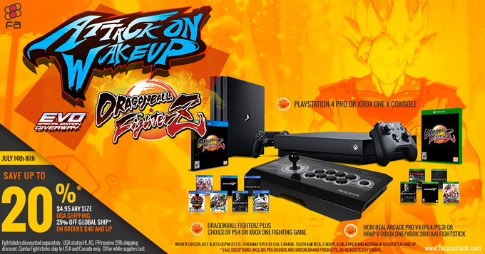 Win a Xbox One X or Playstation 4 Pro, Copy of Dragon Ball Z FighterZ and More!