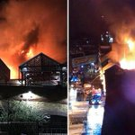 Camden Market fire – Huge blaze rips through iconic London attraction as 70 firefighters battle flames and smoke seen for miles around