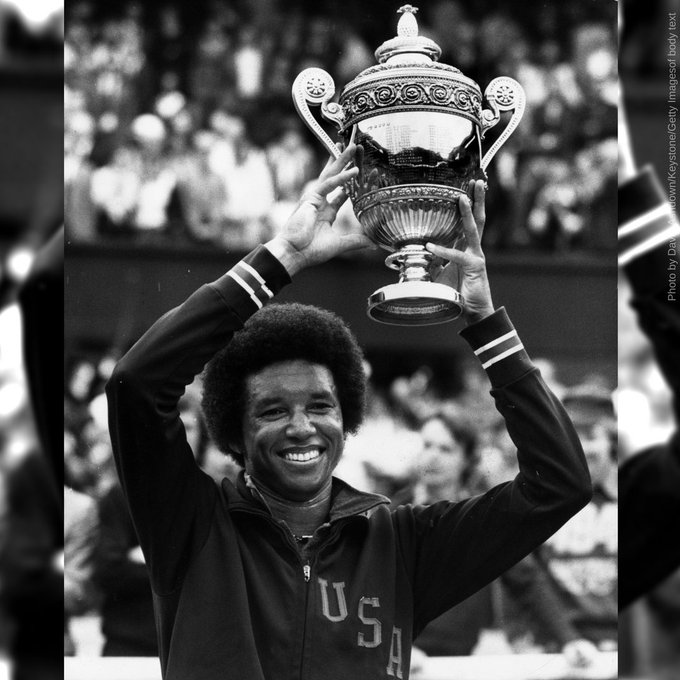 Happy Birthday to the late Arthur Ashe, the first African American man to win the men\s singles title at Wimbledon!