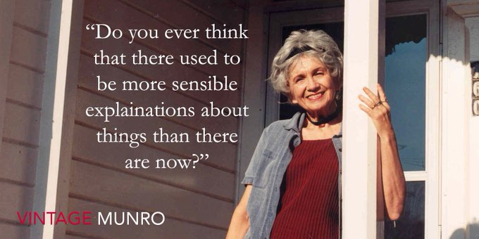 Happy Birthday Alice Munro - always full of wise questions and wonderful novels.