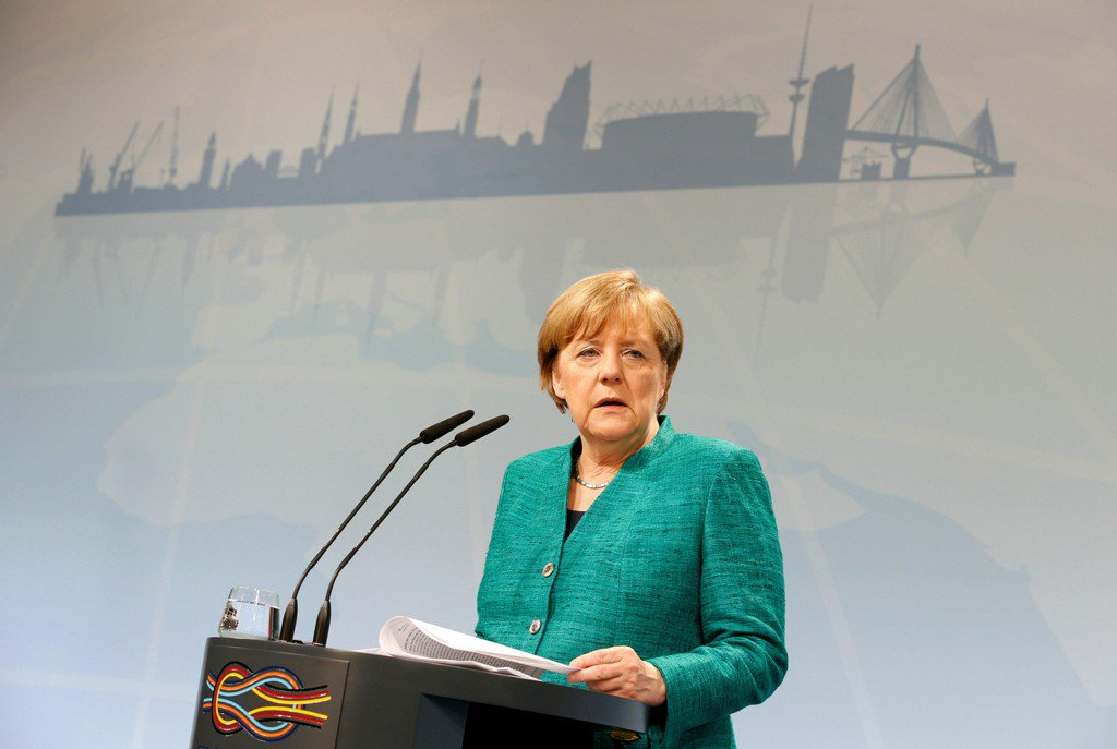 "Angela Merkel at G-20: ""I deplore"" U.S. leaving Paris climate accord"