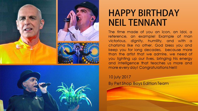 Happy Birthday for our Master Neil Tennant!!!