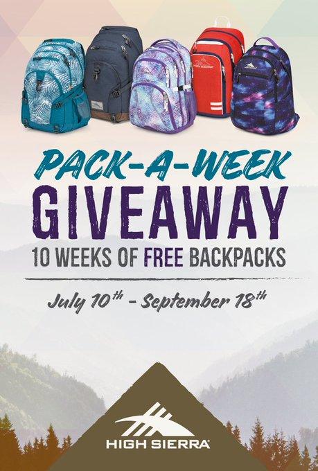 Pack-A-Week Giveaway!