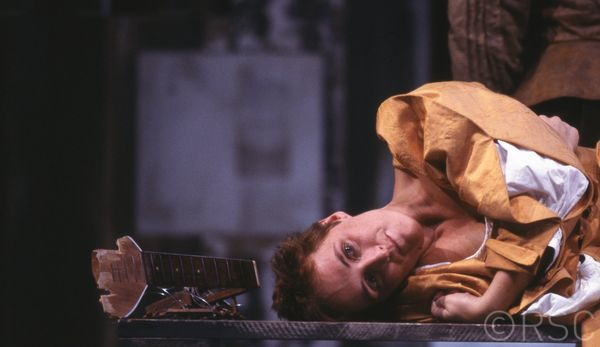 Happy birthday to Fiona Shaw, here as Katherina in TAMING OF THE SHREW, 1988. Pic Reg Wilson via