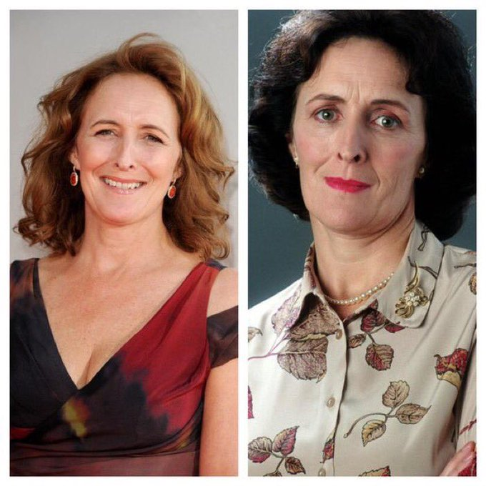 July 10: Happy Birthday, Fiona Shaw! She played Aunt Petunia Dursley in the films.
