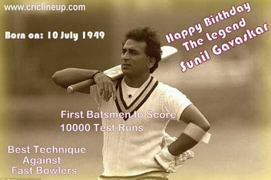 Wishes The Legend  Sunil Gavaskar  A Very Very Happy Birthday