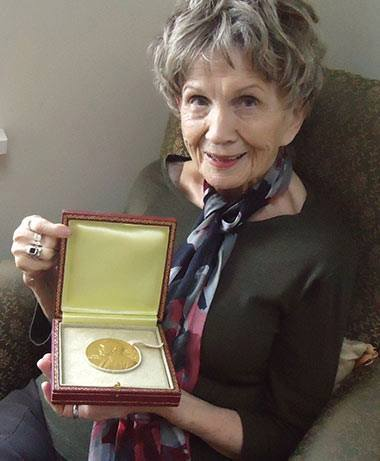 Happy 86th Birthday Alice Munro, awarded the 2013 in Literature! Photo: Sheila Munro