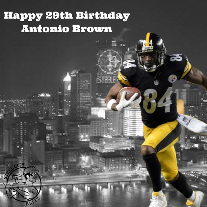 Happy 29th Birthday to Antonio Brown. to wish AB a Happy Birthday!