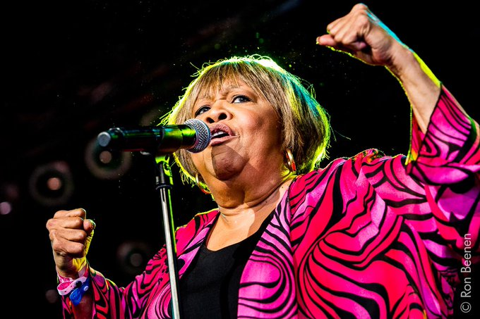 Happy 78th birthday Queen of Gospel Mavis Staples! What a happy, warm and powerful performance yesterday @