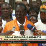 Raila Odinga given clean bill of health to resume his normal political schedule