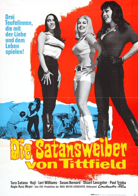 Happy birthday Tura Satana - Russ Meyer\s FASTER, PUSSYCAT! KILL! KILL! - 1965 - German release poster