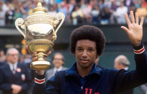 Happy Birthday Arthur Ashe. He would have been 74. own