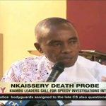 Kiambu leaders call for speedy investigation into Joseph Nkaissery's death