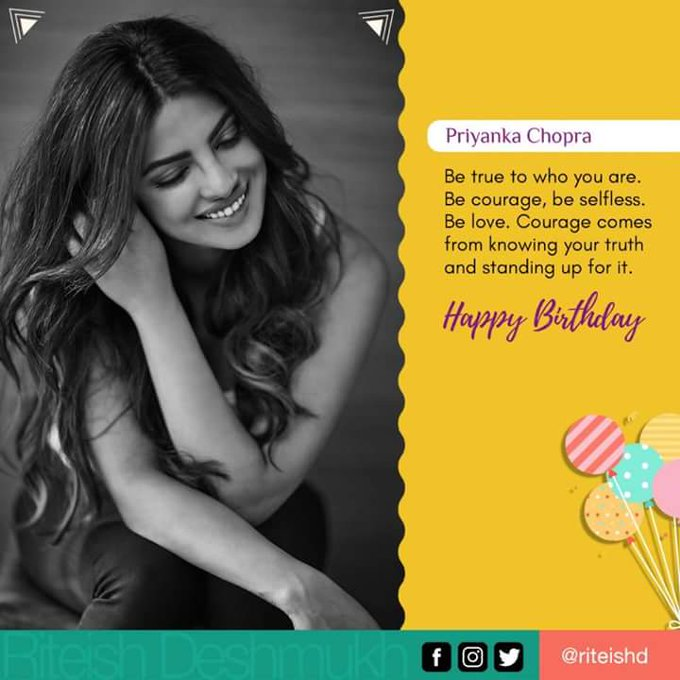 Happy Birthday Dear Priyanka Chopra ...keep shining .. have the brightest one. Much Love