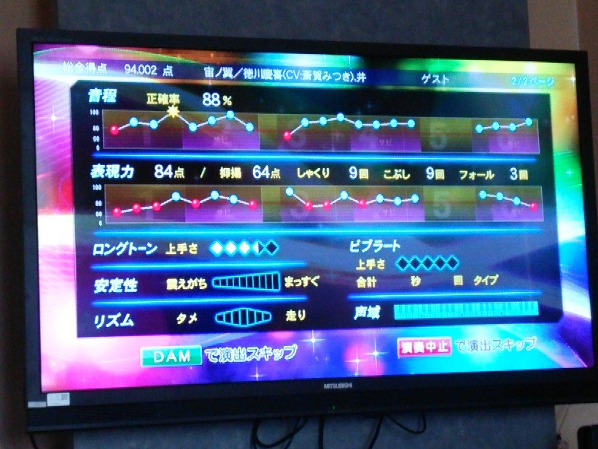 友人とカラオケ行ってきた!一人で幕末Rock祭りやってたんだけど、慶喜様の曲で94点とれた゚+。:.゚(*゚Д゚*)゚.