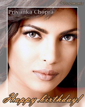 Wishing a very happy birthday to enchanting Priyanka Chopra!