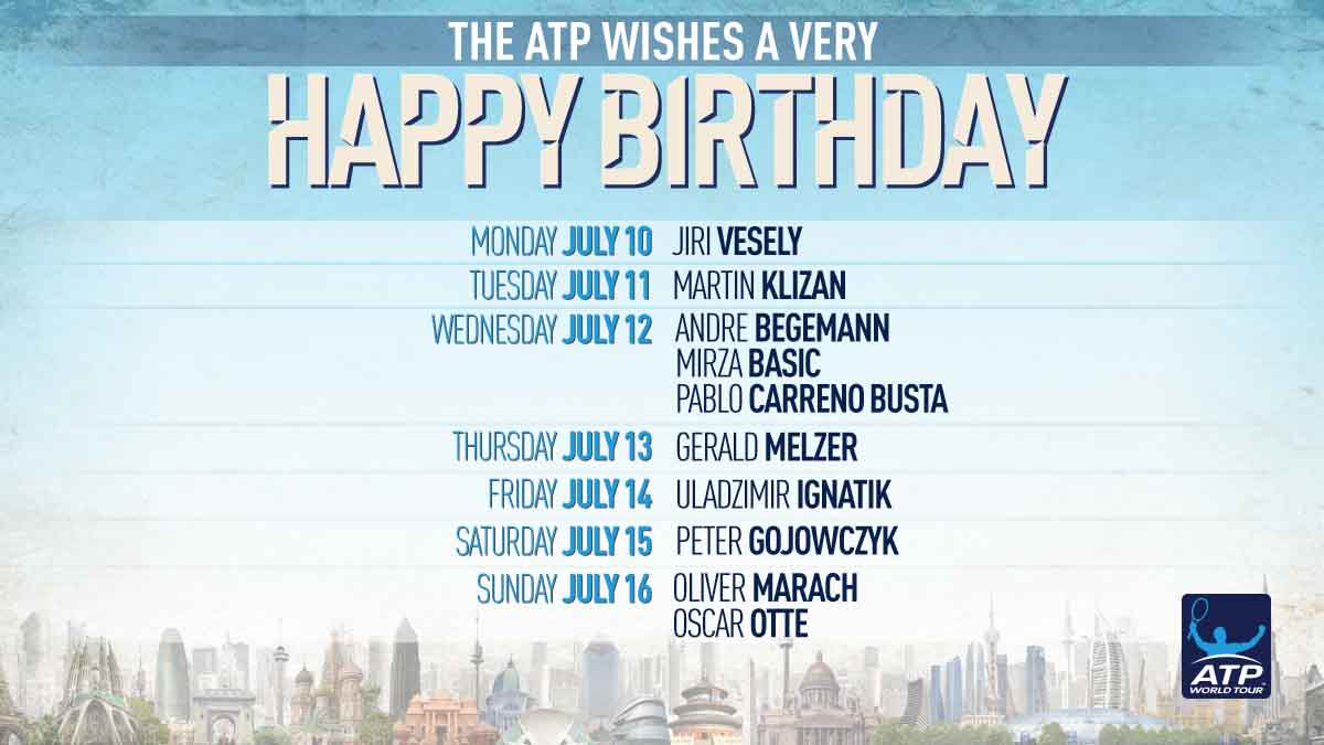 Sending well wishes to all our #ATP ��s celebrating birthdays this week! �� https://t.co/sqZGVfpcGj https://t.co/7bDD63x4mg