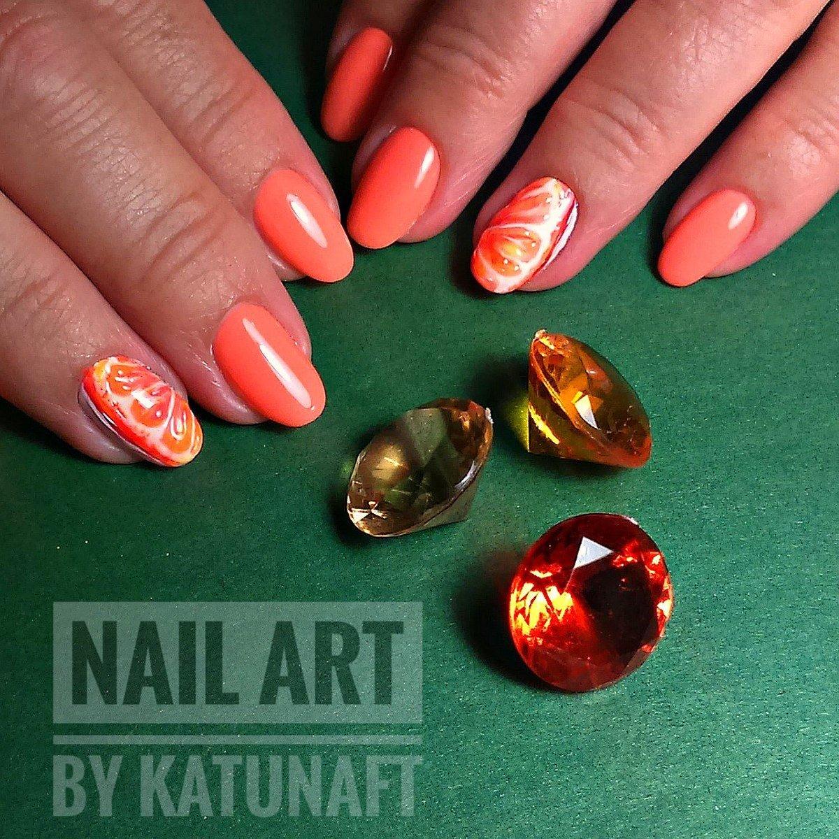 Дизайн ногтей Сочный апельсин МК Юлия Голубкова Идея 38