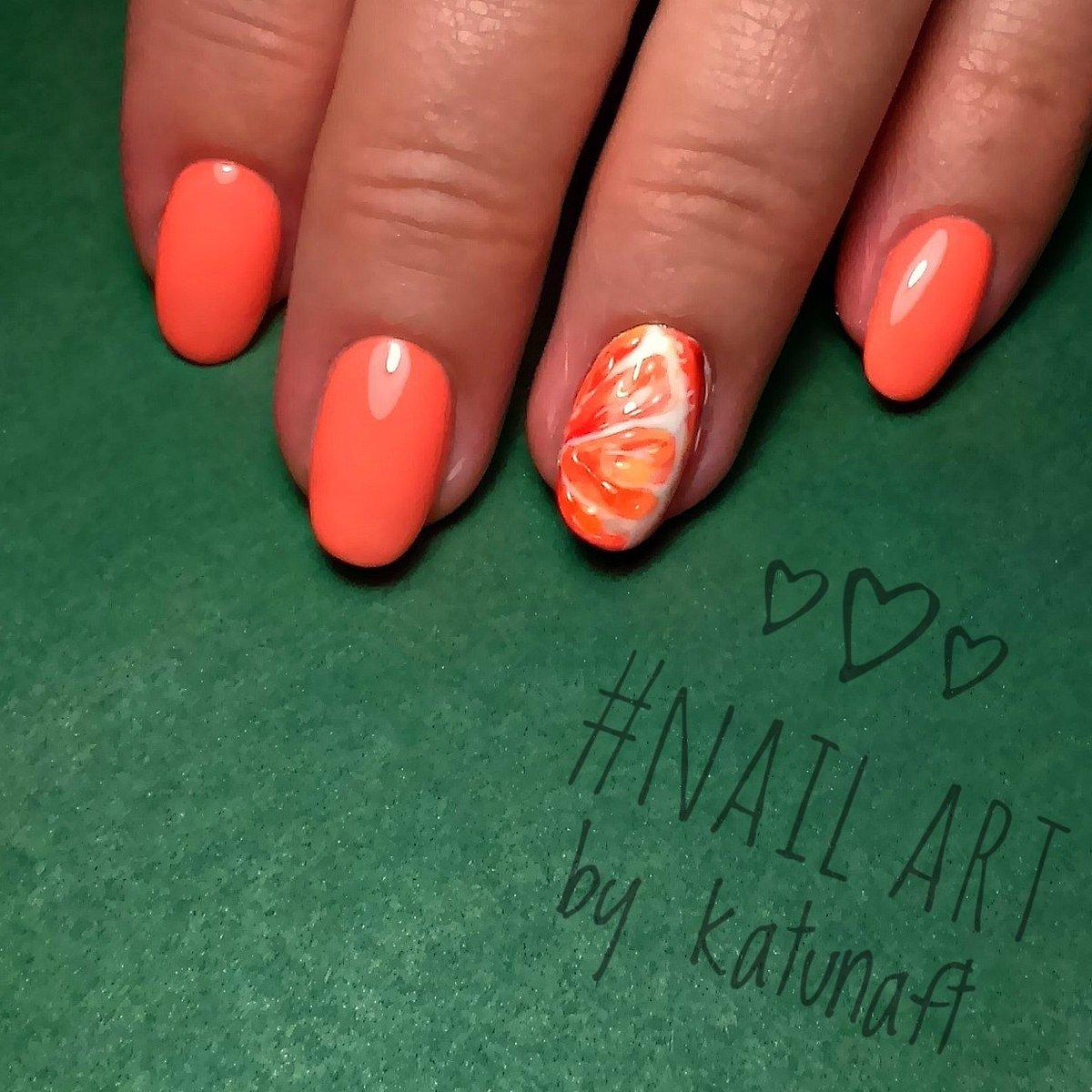 Дизайн ногтей Сочный апельсин МК Юлия Голубкова Идея 66