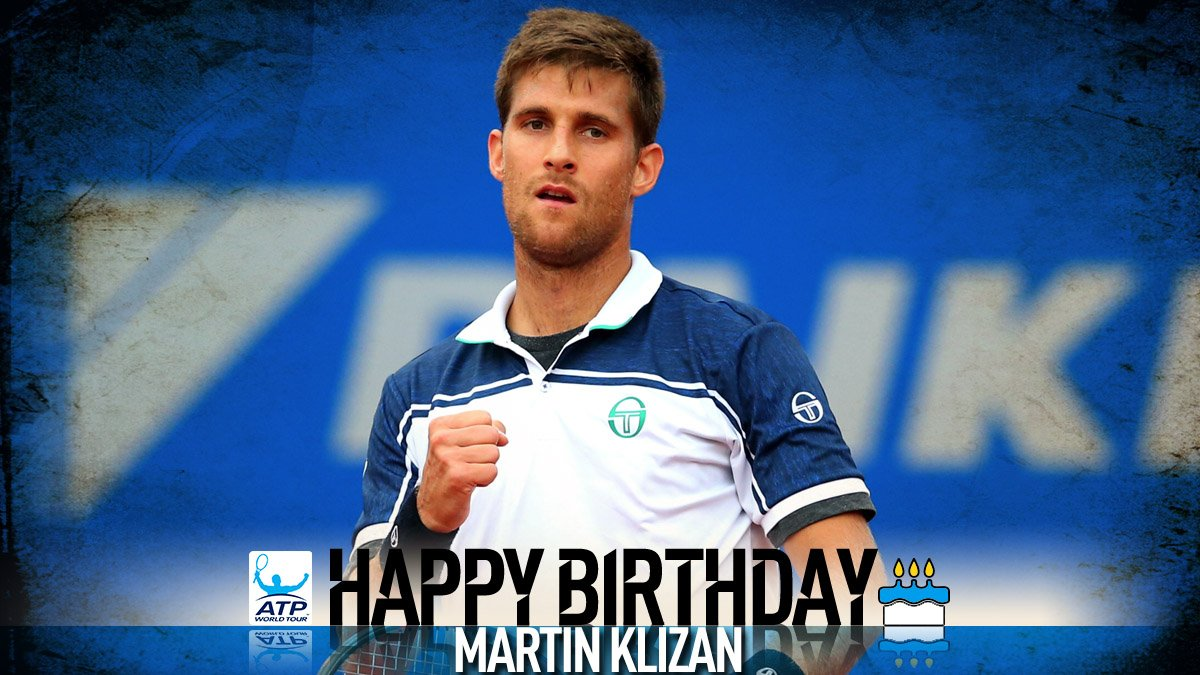 Join us in wishing a happy 28th birthday to Slovakian Martin Klizan! �� View #ATP Profile: https://t.co/ElCkpStryH https://t.co/C8DwuQG5hu