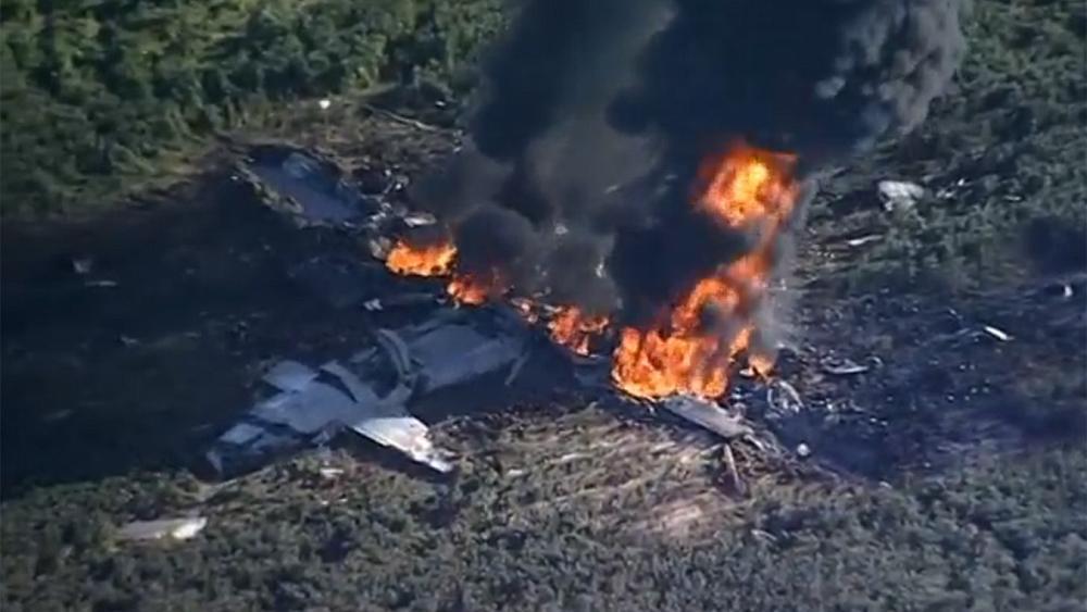 '16 dead' after US military plane crash