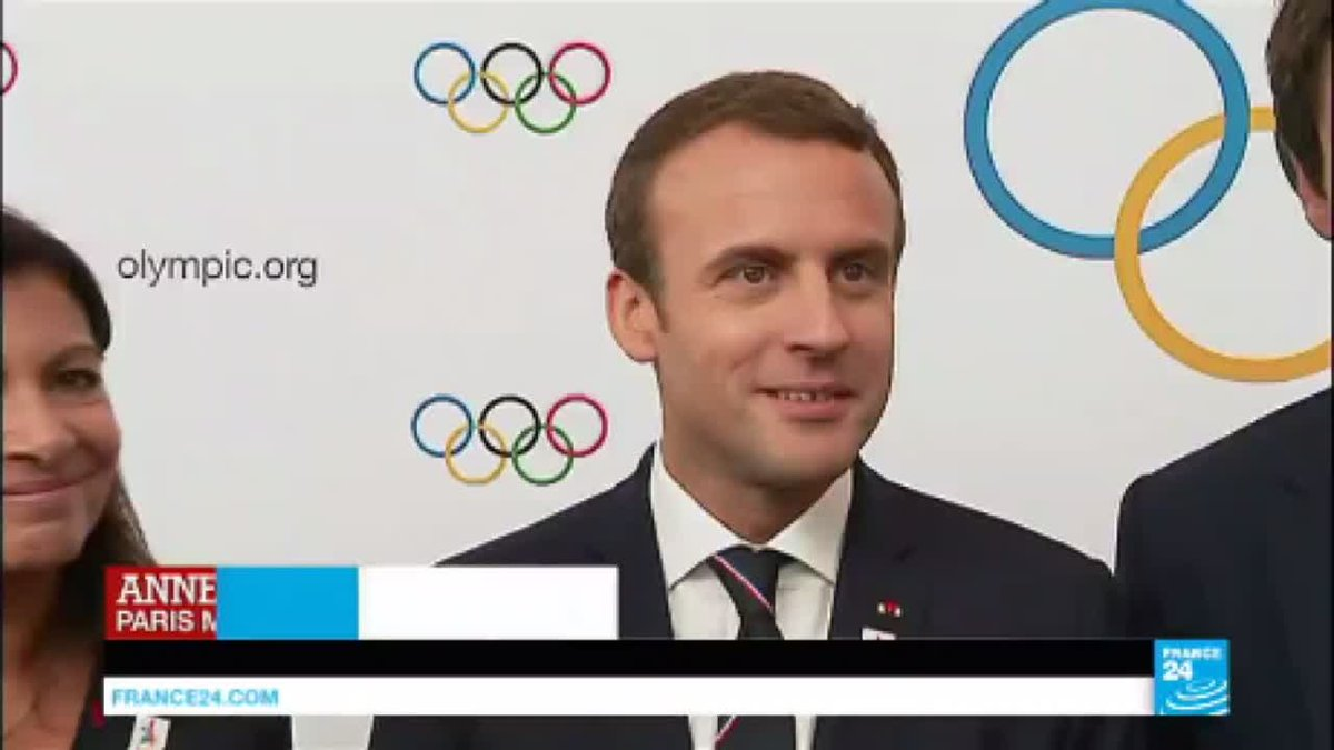 "?? Emmanuel Macron: ""Paris''s bid defends Olympic values"""