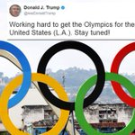 Donald Trump reveals he is 'working hard' to get the 2024 Olympics to Los Angeles